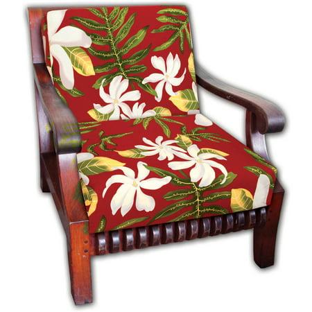 Generic Hawaiian Koa Cushion Seat Cover 5 Pair Sets In Tiare Flower Design Durable Canvas