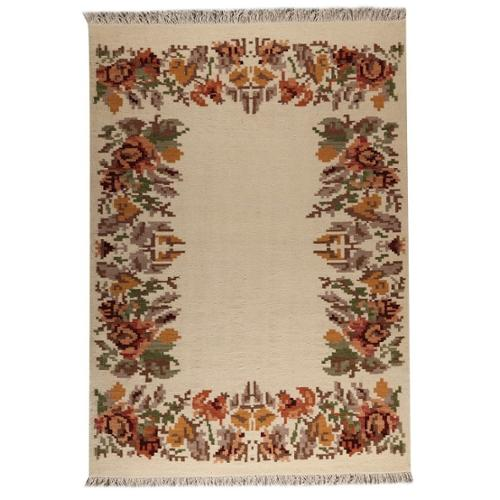 MA Trading Indian Hand-woven Karba2 Cream Rug (5'6 x 7'10)