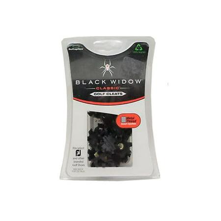 Black Widow Classic Golf Cleats (Small Metal Thread Insert System) NEW