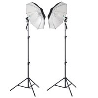 Shutter Starz Professional Photography Studio 2 x 65 Watts Lighting Umbrella Kit