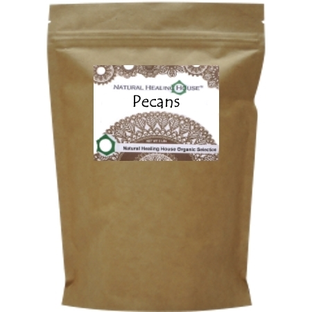 Pecans raw (halves) 5 LBS BULK by Natural Healing House