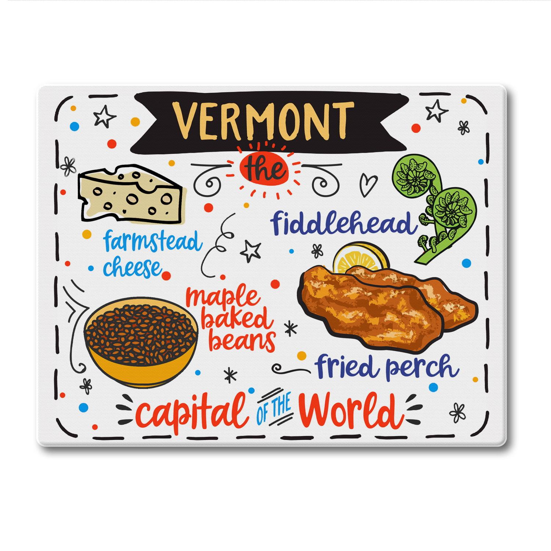 Counterart Vermont State Foods Tempered Glass Counter Saver Cutting Board Walmart Com Walmart Com