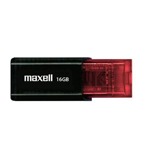 Maxell 16GB Flix USB 2.0 Flash Drive - 16 GB - USB 2.0 - 1 Pack - Retractable