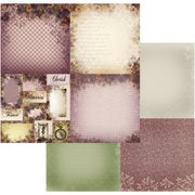 "Hearts Ease Double-sided Paper 12""x12""-gingham Pansies 4up - Case Pack Of 5"