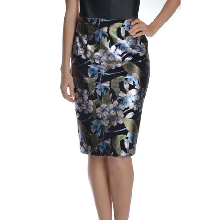 (NYCC Women's Foiled Knee Length Floral Skirt)