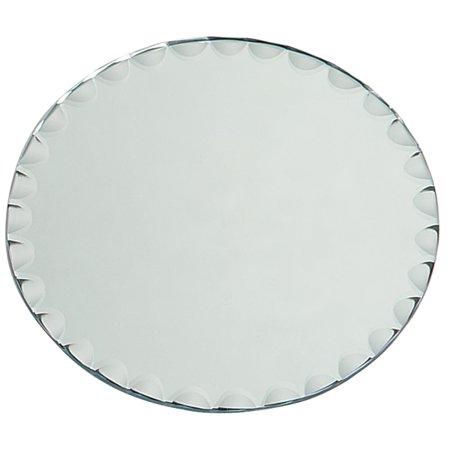 Darice Mirror - Darice Round Glass Mirror with Scallop Edge, 8