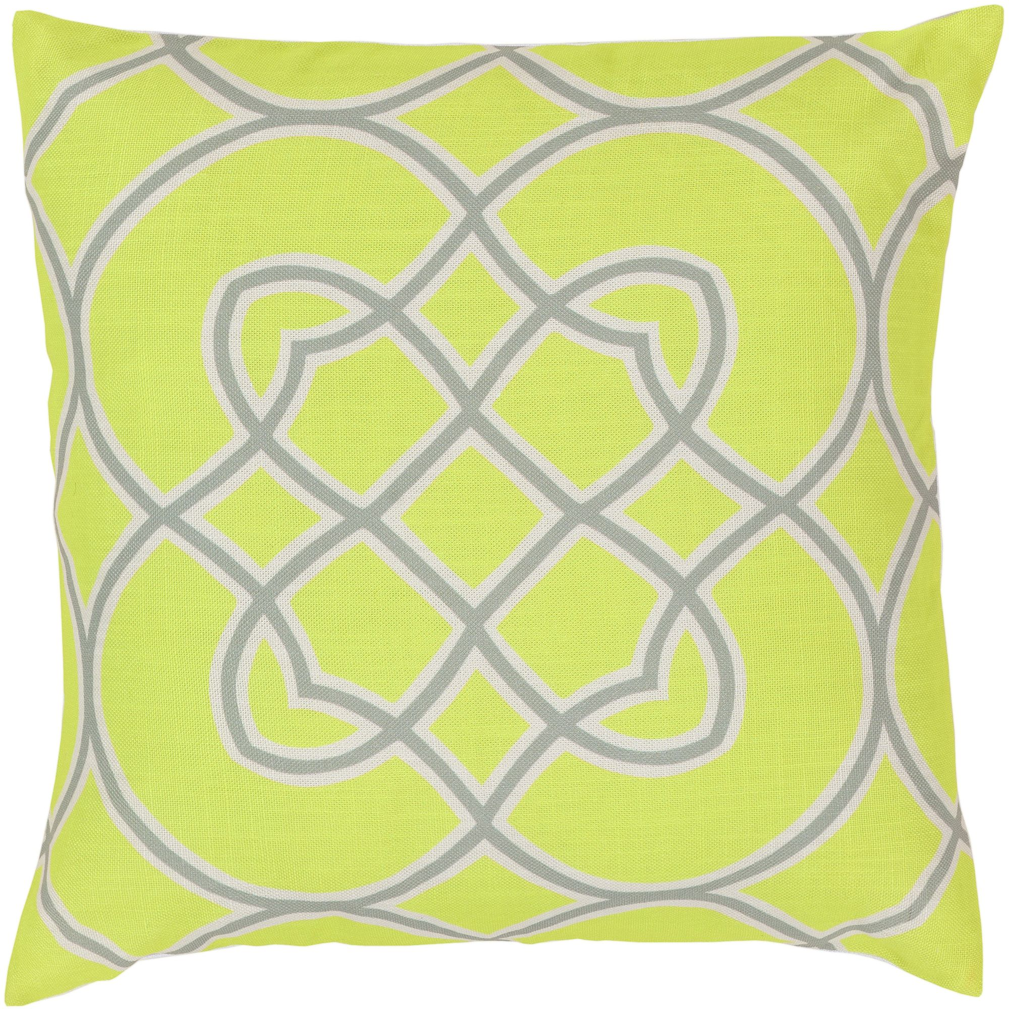 Art of Knot Brayton Hand Crafted Super Scroll Decorative Pillow with Poly Filler, Lime