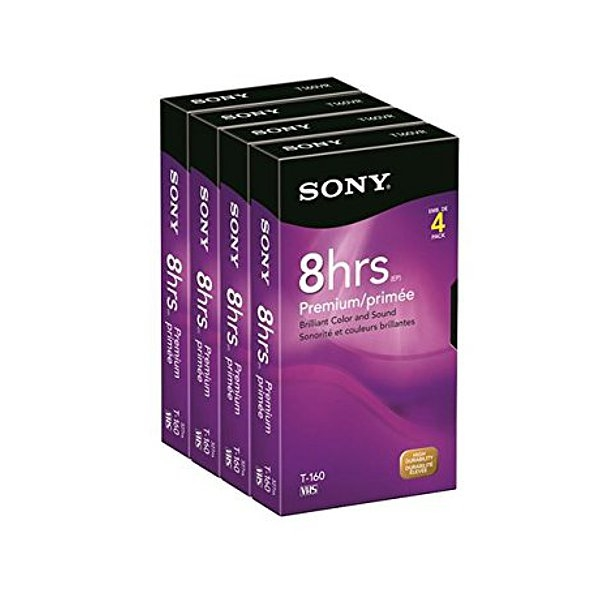 Sony 4T160VR 160-Minute VHS - 4 Pack