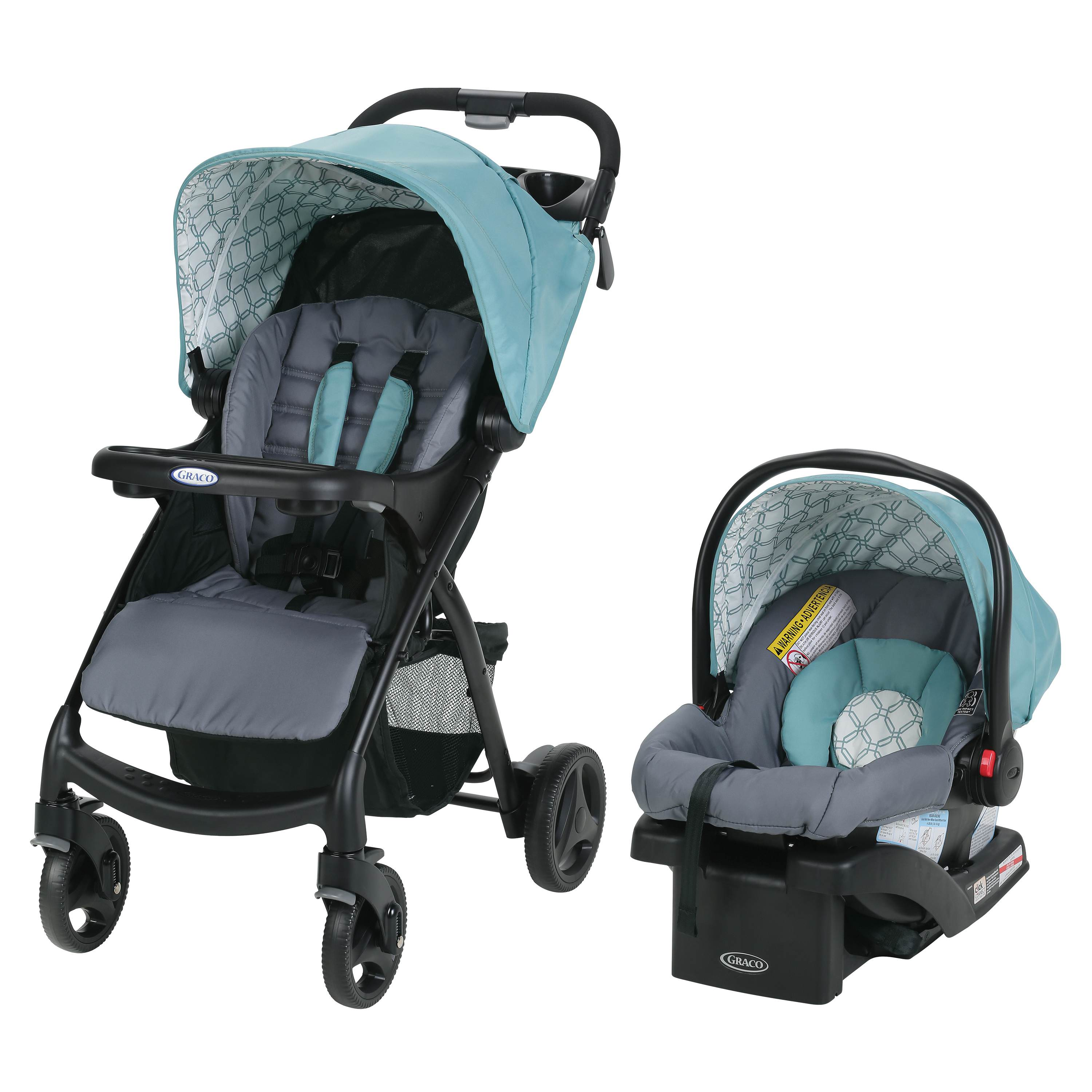 Graco Verb Click Connect Travel System with SnugRide 30 Infant Car Seat, Azalea by Graco