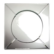 ChargeIt! By Jay Square 13-inch Mirror Glass Charger