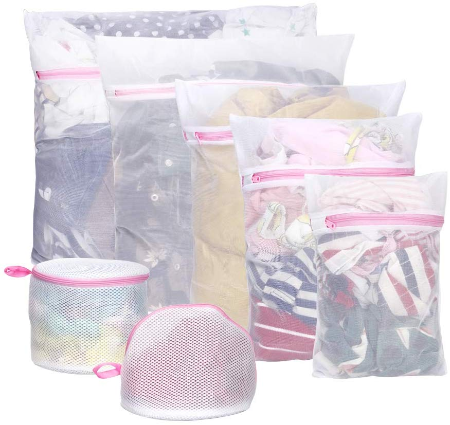 mesh laundry bag for delicates Blouse Hosiery,Underwear,Bra Lingerie,sheet Zipper wash bags 4 different sizes of laundry bags
