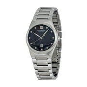 Victoria Steel Womens Watch Black Mother-of-Pearl Dial Date 241536