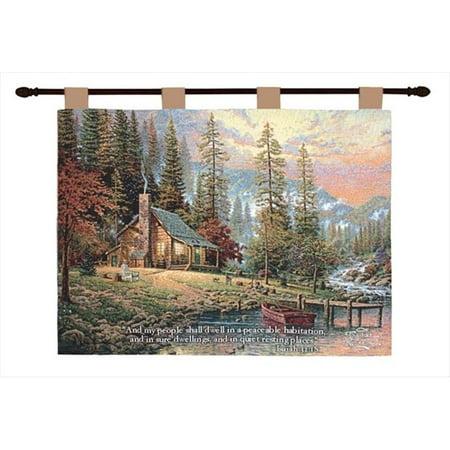 Charlotte Home Furnishings WW-7668-10725 Peaceful Retreat With Verse, Green ()