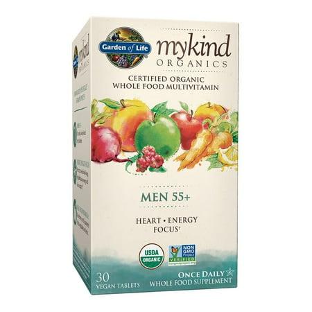 - Garden of Life Mykind Organics Men 55+ One A Day Multivitamin Tablets, 30 Ct