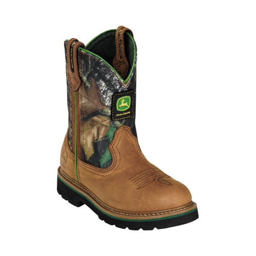 Children's John Deere Boots Camo Wellington 2188 by Johnny Popper