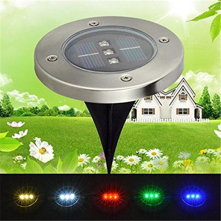 Ymiko 3 LED Solar Power Buried Garden Pathway Path Outdoor Under Ground Light 3 Color ()