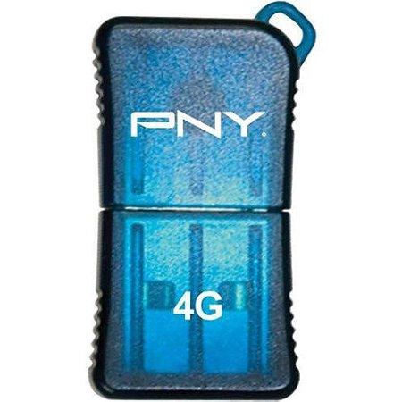 PNY 4 GB Micro Sleek USB Drive, Blue P-FDU4GBSLK/BLU-EF