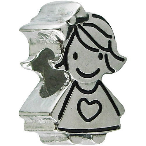 Connections from Hallmark Stainless-Steel Little Girl Charm