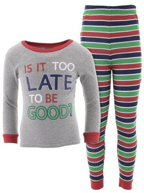Mon Petit Boys Too Late To Be Good Cotton Pajamas