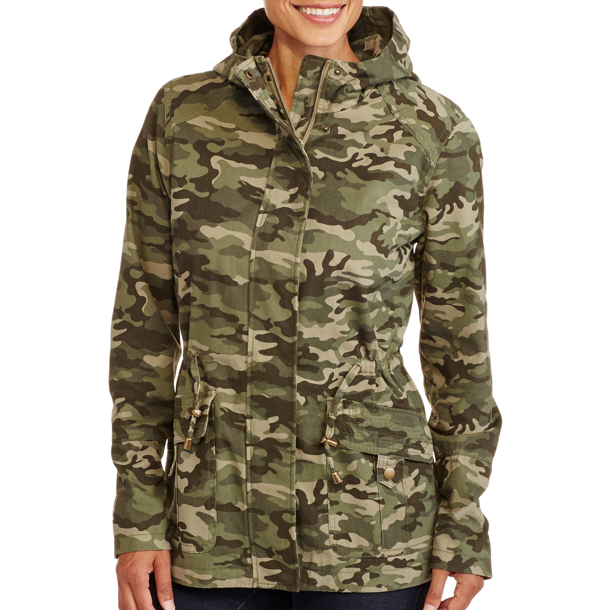 Faded Glory Women's Essential Canvas Anorak Jacket With Printed Lining
