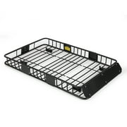 """Arksen 64"""" Universal Black Roof Rack Cargo with Extension Car Top Luggage Holder Carrier Basket SUV"""