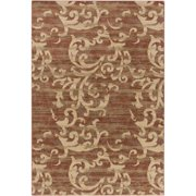 5.25' x 7.25' Wind Blowing Sand Burgundy Red and Beige Area Throw Rug