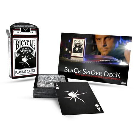 Magic Makers Bicycle Black Spider Deck - Playing Card