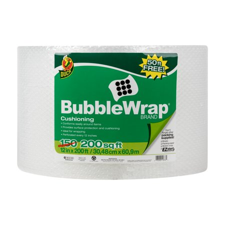 Duck Brand Original Bubble Wrap Cushioning 12 In. x 200 Ft.,