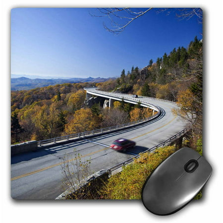 3Drose Linn Cove Viaduct  Blue Ridge Parkway  North Carolina   Us34 Cha0049   Chuck Haney  Mouse Pad  8 By 8 Inches