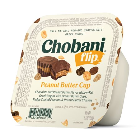 Chobani, Flip Peanut Butter Cup Low-Fat Greek Yogurt, 5.3 (Weight Watchers Points For Chobani Flip Yogurt)