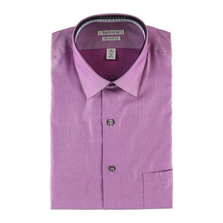 NEW Purple Mens Size 15 1/2 Herringbone Button-Down