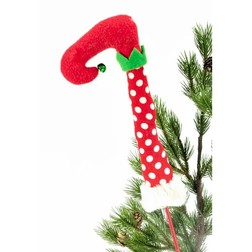 The Holiday Aisle 12'' Whimsical Elf Boot Tree Topper