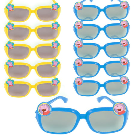 Peppa Pig Sunglasses 24ct, Birthday Party Favors for Kids - Plastic Sunglasses Party Favors