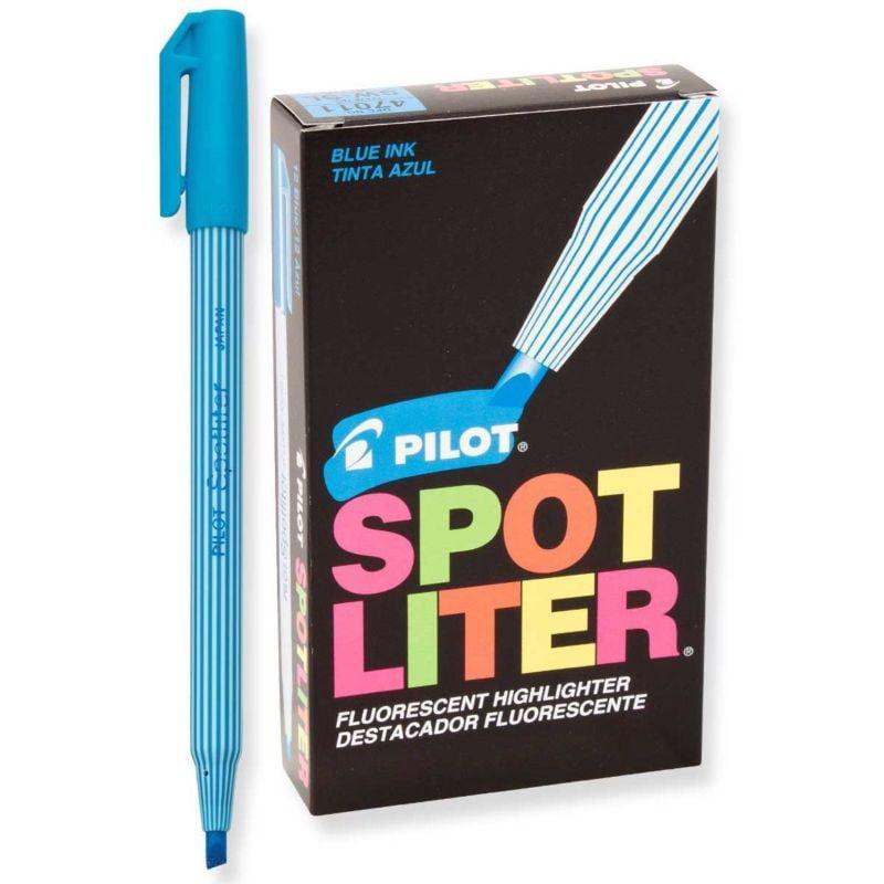 Pilot SW-SL Spotliter Highlighter, Fluor.Non-repro Blue (PIL 47011) - 12/pk