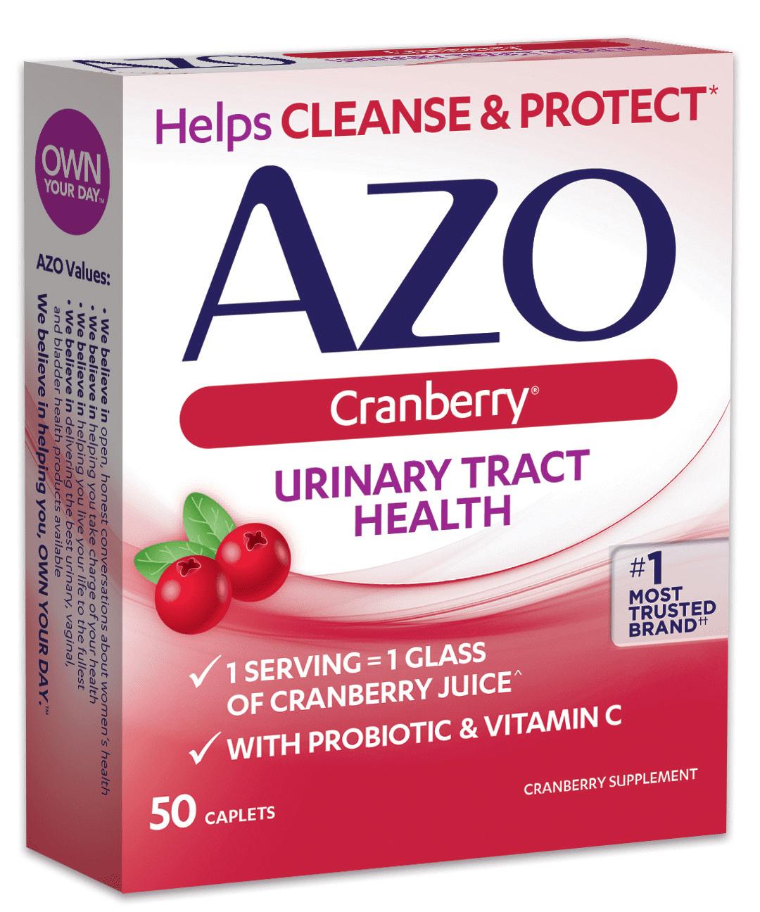 azo cranberry urinary tract health caplets, 50 ct - walmart