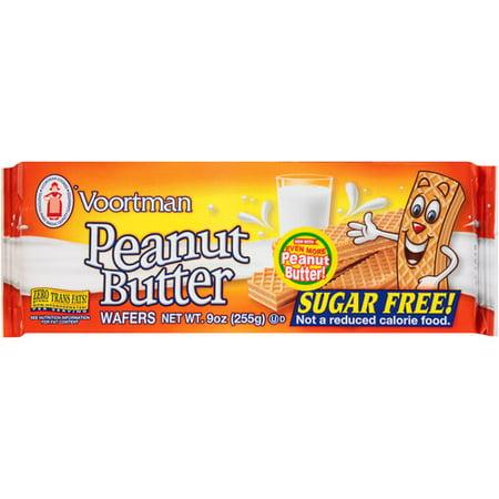 (3 Pack) Voortman Peanut Butter Wafers, 9 oz - Peanut Butter Cookies Halloween