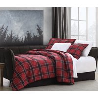 Mainstays Murphy Plaid Printed 5 Piece Daybed Comforter Bedding Set