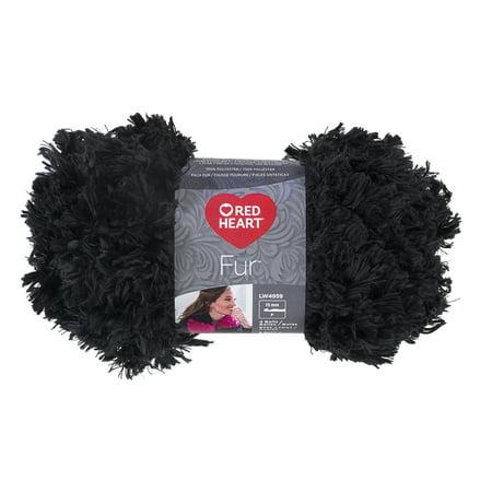 Red Heart Fur Slate Yarn, 1 Each
