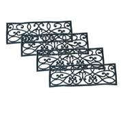 AmeriHome Rubber Scrollwork Stair Tread 4 Pack
