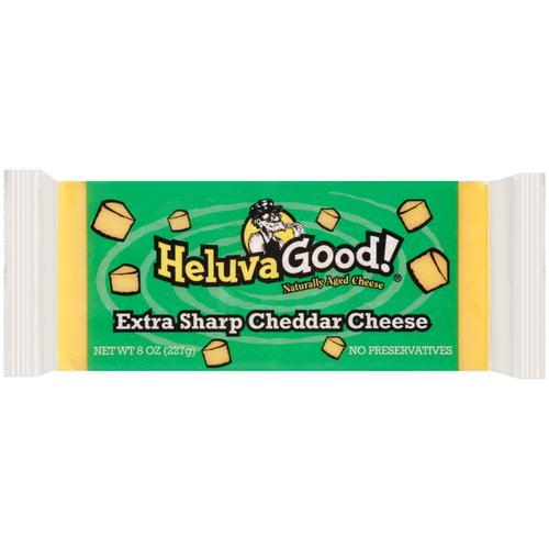 Heluva Good Extra Sharp Cheddar Cheese, 8 oz