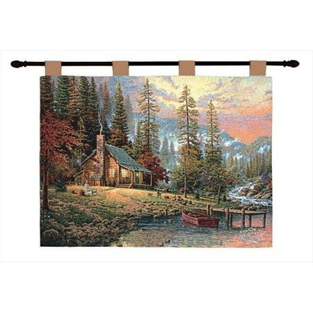 Menuisiers manuels et tisserands HWTPR Une tapisserie murale pour une retraite paisible, horizontale, 36 x 26 po. - image 1 de 1