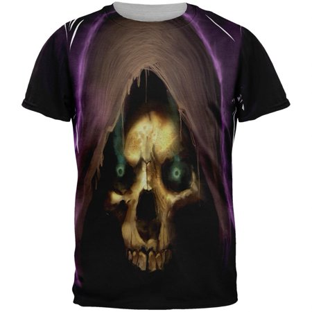 Halloween Grim Reaper Adult Black Back T-Shirt