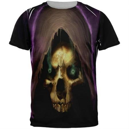 Halloween Grim Reaper Adult Black Back T-Shirt - Reaper Clothes
