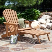Coral Coast Grand Daddy Oversized Adirondack Chair w/Pull-out Ottoman Deals