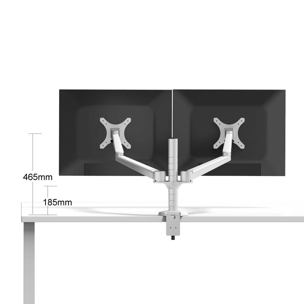Heavy Duty Aluminum Allow Dual Adjustable Arm LCD Desktop Monitor Mount