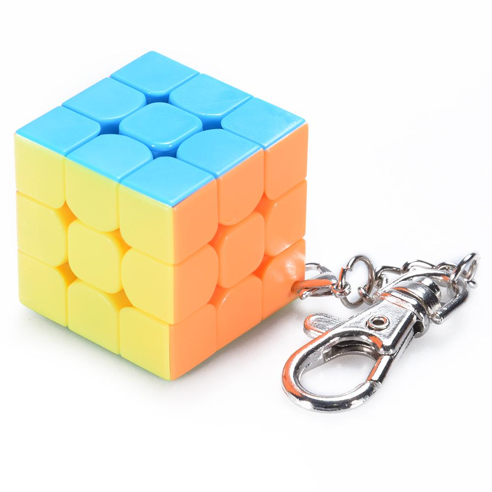 4 x Mini Rubix Cube Keyring Puzzle Game Toy Gift
