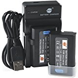 DSTE EN_EL1 Li_ion Battery (2_Pack) and Micro USB Charger...