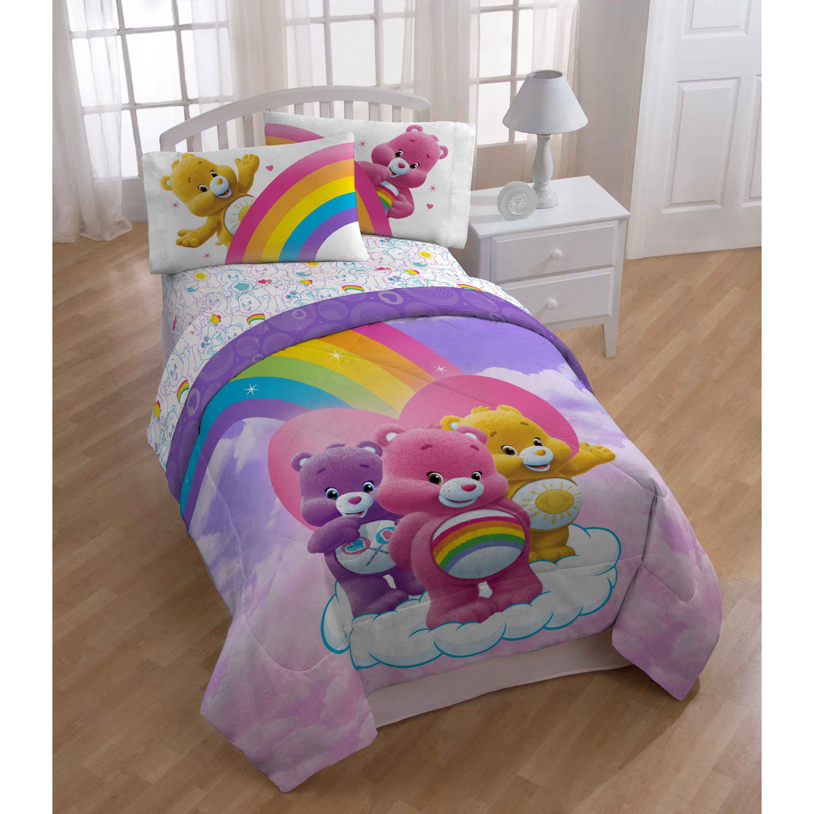 Care Bears Rainbow Day Reversible Comforter by American Greeting