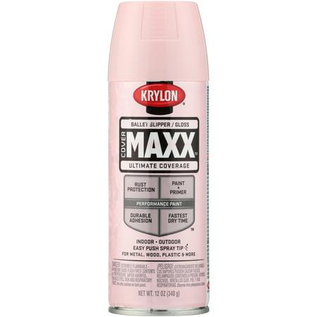 Krylon® CoverMaxx™ Gloss Ballet Slipper Ultimate Coverage Spray Paint 12 oz. Aerosol Can