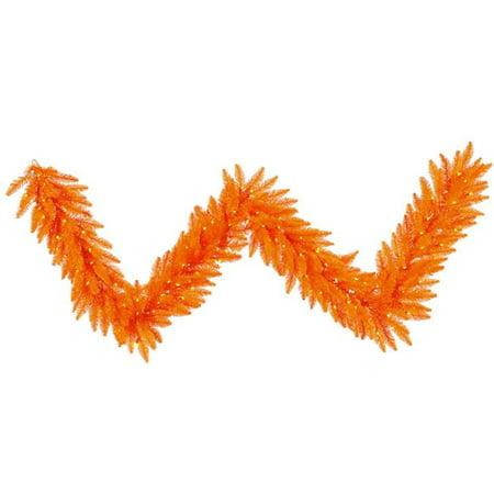 Vickerman K162415LED Orange Dura-Lit Garland with Orange LED Lights, 9 ft. x 14 in. - image 1 de 1